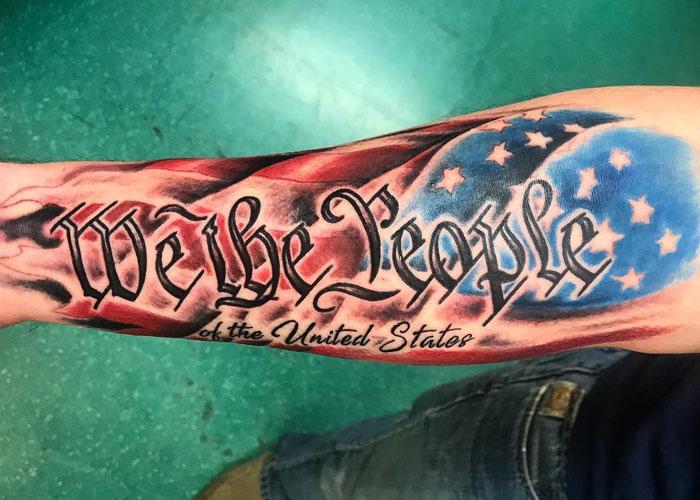 cool american flag tattoos  men mens hairstyles