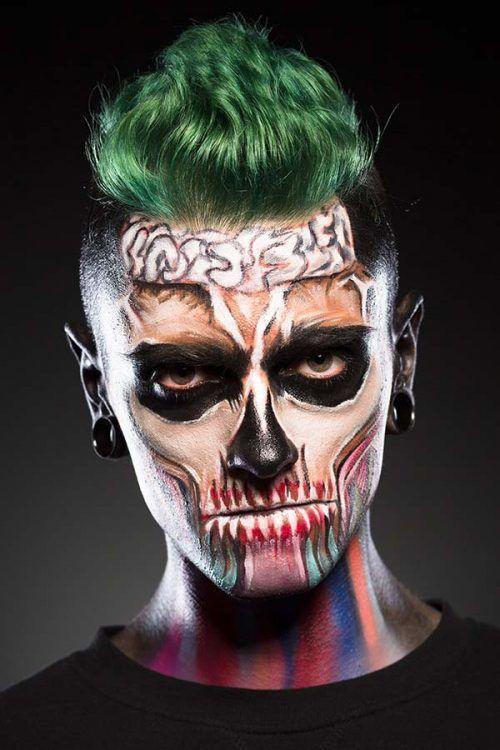 35 Cool Halloween Makeup Ideas For Men | Best Halloween