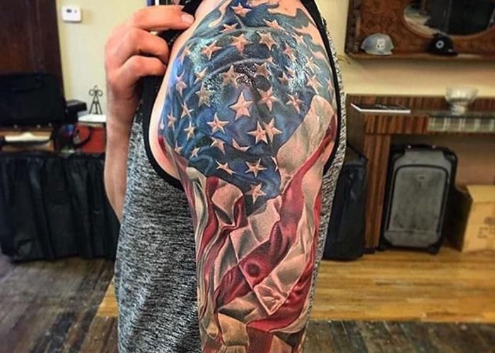 Cool American Flag Tattoos For Men