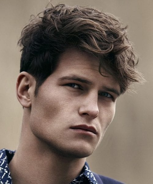 Men With Lazy And Messy Hair Style More Stylish And Handsome Men S Style