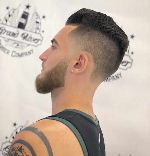 Semi bald hairstyle