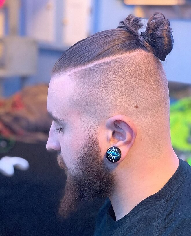 25 Attractive Man Bun Fade Styles Best Man Bun Hairstyles 2020 Men S Style
