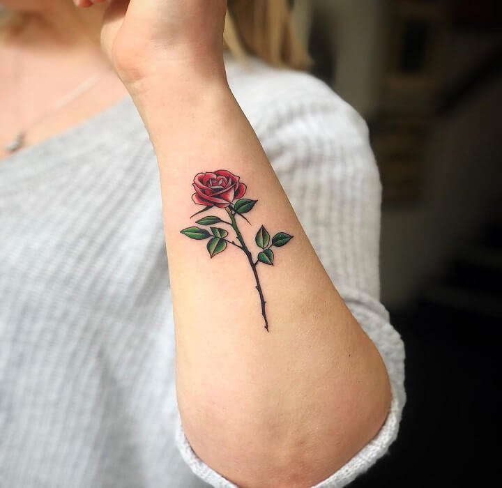 30 Awesome Rose Tattoos For Men and Women | Men's Style