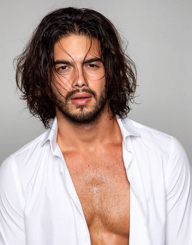 Brilliant Top 20 Sexy Shoulder Length Hairstyles For Men Cool Shoulder Schematic Wiring Diagrams Amerangerunnerswayorg