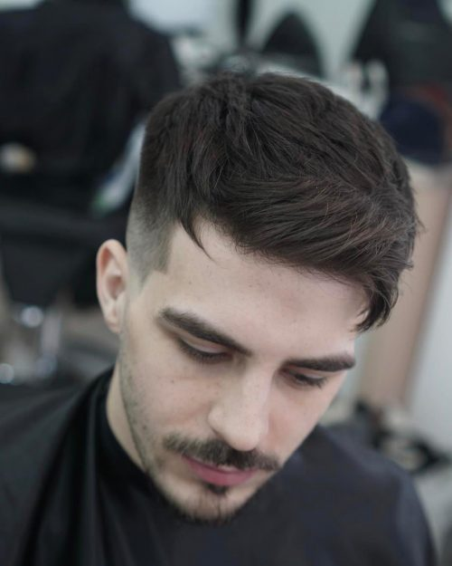 40 Best Mens Textured Hairstyles 2020 Textured Haircuts For Men Side Brushed Stranded Hair With Mid Skin Fade