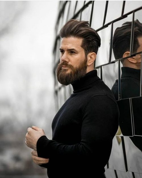 Swept Back Hairstyle + Beard 40 Best Mens Textured Hairstyles 2020 Textured Haircuts For Men
