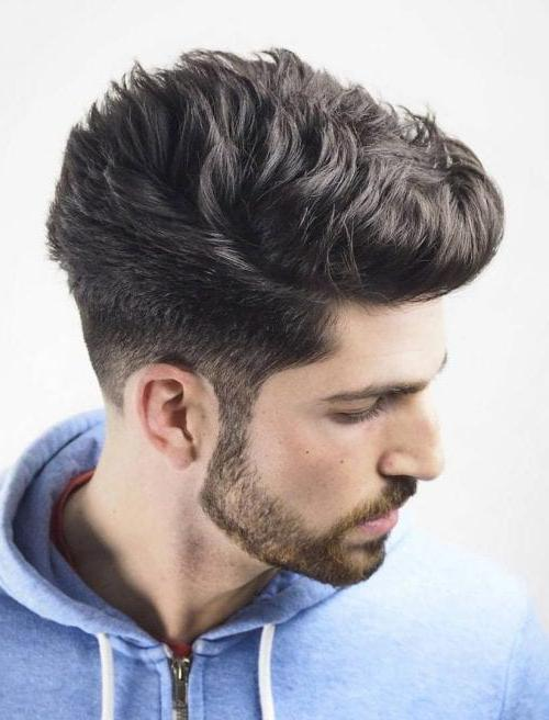 Textured Pompadour With Short Sides + Beard