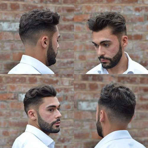 Wavy Texture Top With Faded Sides 40 Best Mens Textured Hairstyles 2020 Textured Haircuts For Men
