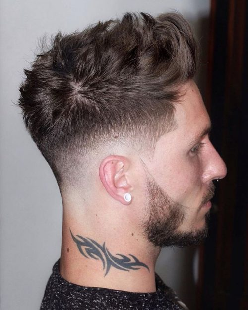 Faux Hawk With Low Fade