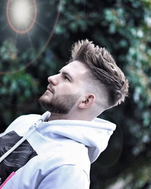 Textured Haircut With Fade + Beard