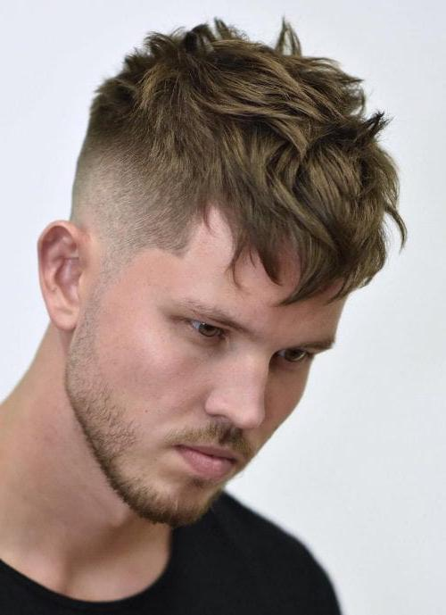 Textured Long Fringes With High Fade